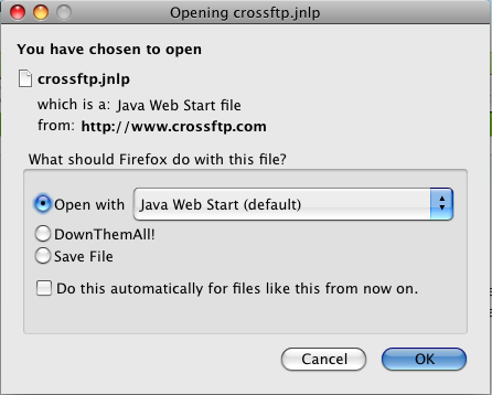 CrossFTP, FTP Client and Server